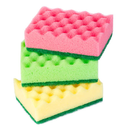 spongy: Group of kitchen sponges Stock Photo