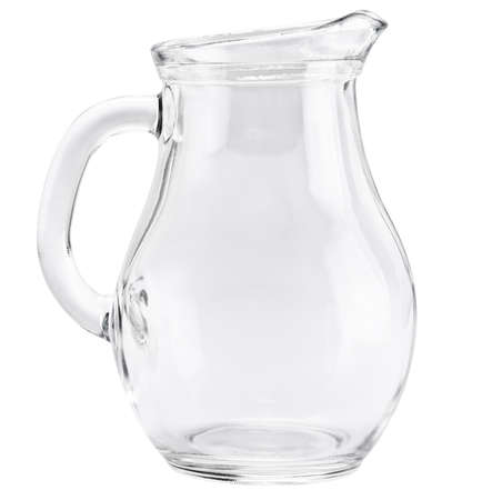 milk jugs: Glass jug isolated on a white background
