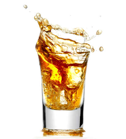 Brandy isolated on white  Standard-Bild