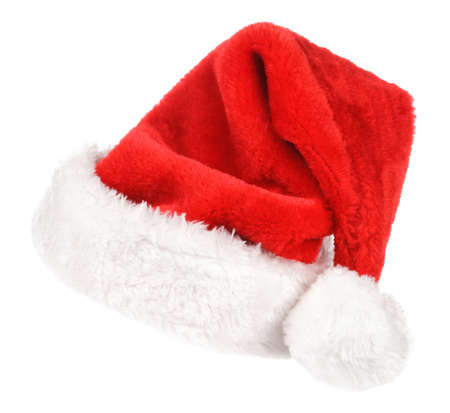 Santa red hat isolated in white background Stock Photo - 15783056