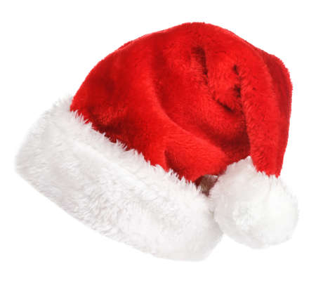 Santa red hat isolated in white background Stock Photo - 15783055