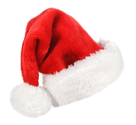 Santa red hat isolated in white background Stock Photo - 15783061