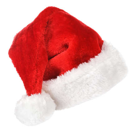 Santa red hat isolated in white background Stock Photo - 15783057