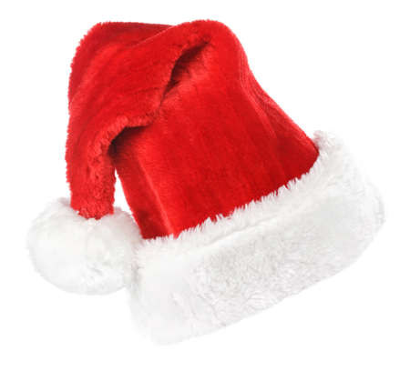 Santa red hat isolated in white background  photo