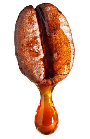 コーヒー コーヒー種子から滴り落ちるのドロップ 写真素材