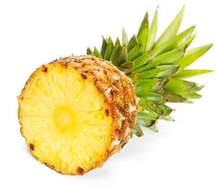 Fresh pineapple on white background  photo