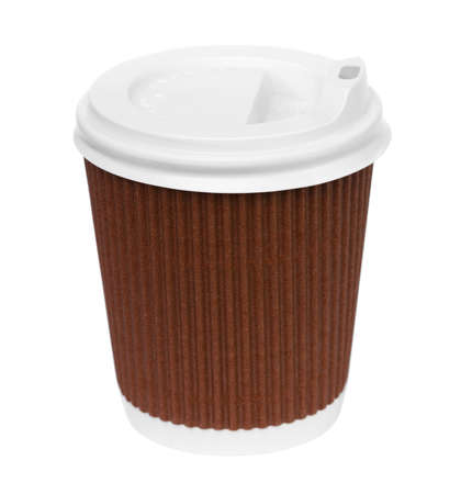 spume: Paper Coffe Cup on white