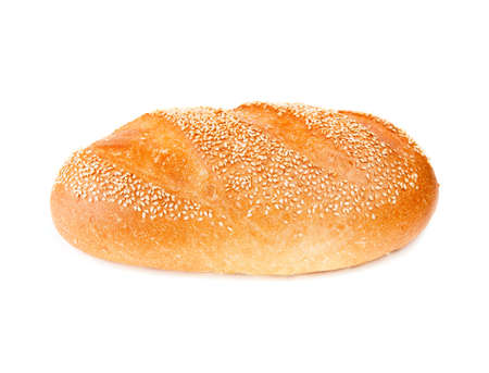 White bread isolated on white background Stock Photo
