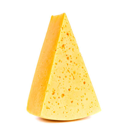 cheez: piece of cheese isolated on white