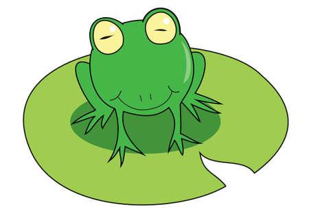 Smile Frog Illustration
