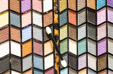 eyemakeup: Eye shadows make-up palette close-up