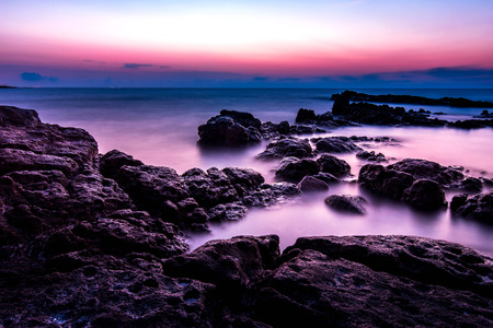 Landscape photo of sunset time at the sea