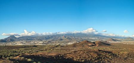 Landscape with Teide volcano in tenerife island, spain