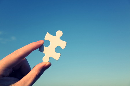 소 퍼즐 조각 스톡 콘텐츠