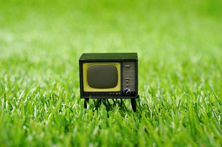 television antigua: Imagen de la TV Foto de archivo