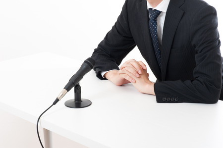disciplinary action: Officers have apologized using a microphone at a press conference