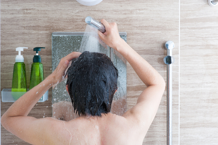 chinese sex: Men taking a shower
