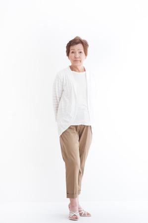 beauty full: Senior Asian women,standing pose