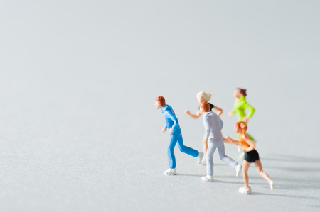 running people, miniature 版權商用圖片