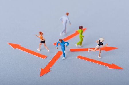 running people, miniature Фото со стока
