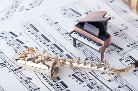 sax: Sax and piano, musical instrument