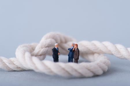 tangled: Tangled rope, businessman