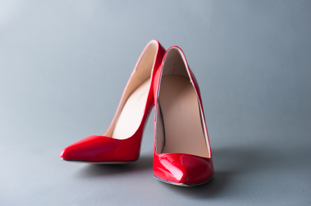 dress shoes: Red high heels