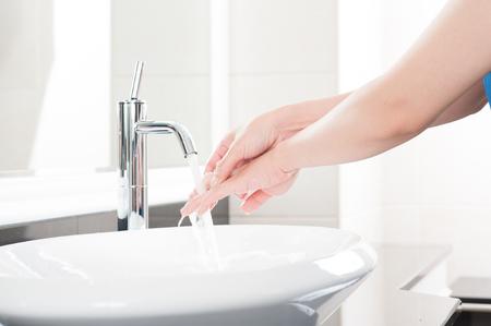 Washing hand