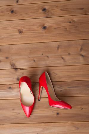 trample: Red high heels