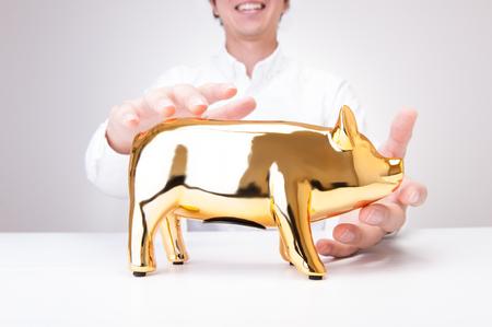 depreciation: bank gold pig