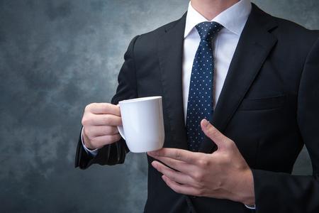 coffee time: Coffee time businessman Stock Photo