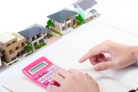 주택 판매, 사업가의 손 스톡 콘텐츠