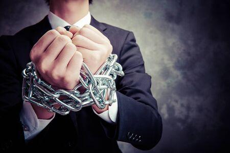 Businessman with chain Stok Fotoğraf - 48585099