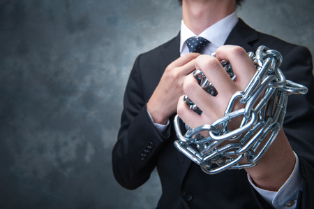 scandals: Businessman with chain
