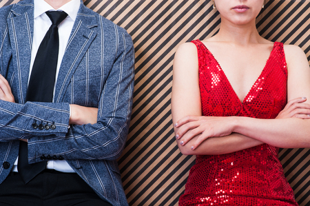 남자와 여자 싸움을하는 부부 스톡 콘텐츠