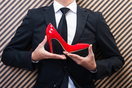 cinderella shoes: Businessman to have a red high heels