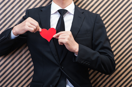 matchmaking: Heart mark and men Stock Photo