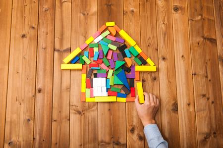 Building blocks house Standard-Bild