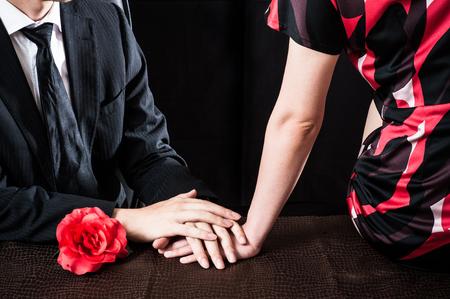company secrets: Suspicious men and women