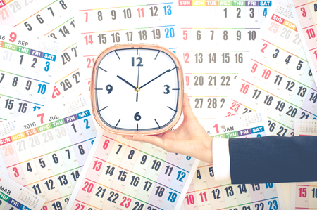 period of time: Calendar and time management Stock Photo