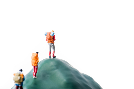 Climbers, miniature dolls 스톡 콘텐츠