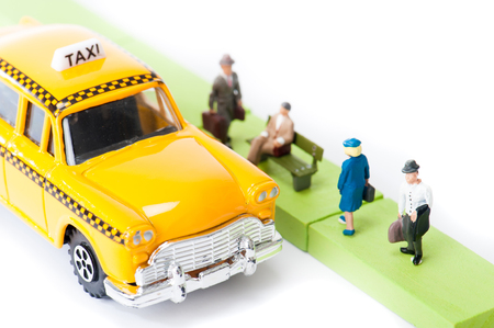 taxi and businessman