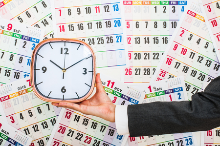 カレンダーと時間の管理 写真素材