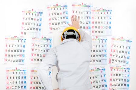 Men of work clothes,calendar