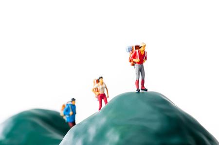 adventurers: Climbers, miniature dolls Stock Photo