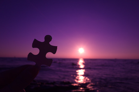 The sky of sunset,jigsaw puzzle