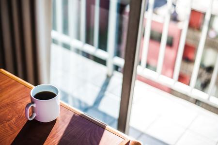 refrescar: café y mesa