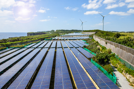 태양 광 발전, 풍력 발전 스톡 콘텐츠