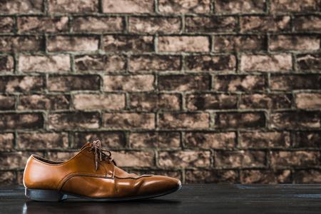革の靴 写真素材