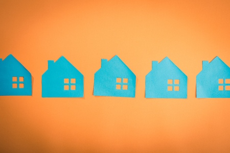 housing image.blue color Stock Photo